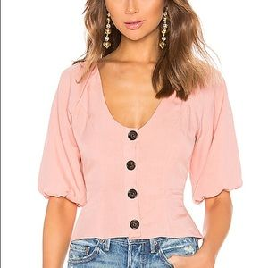 Lovers + Friends Edith Top in Blush